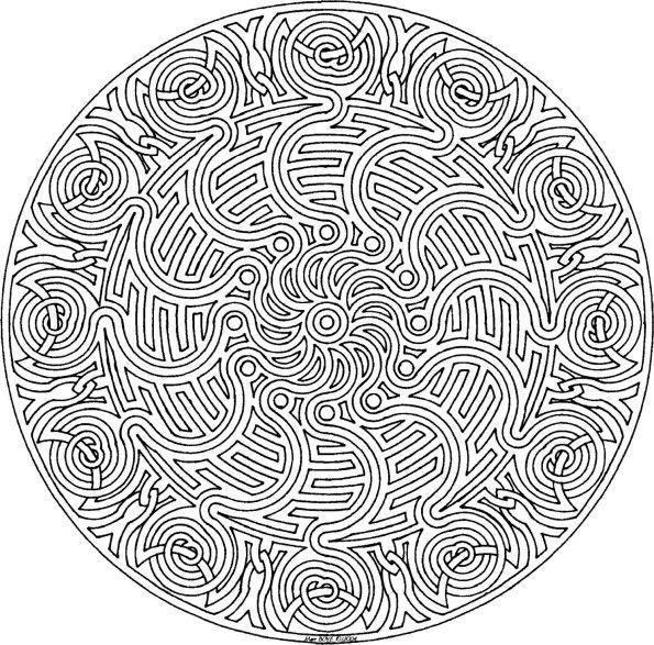 72 mandala a imprimer et a colorier - Mandala difficile a imprimer ...